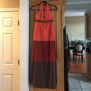 Bcbg summer maxi dress orange brown sz. 2